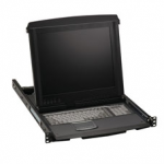1-PORT 17IN LCD CONSOLE DRAWER WITH CATX KVM SWITCH