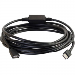 USB A Male to A Female Active Extension Cable - Plenum CMP-Rated - USB adapter - USB (F) to USB (M) - USB 2.0 - 16 ft - plenum - black