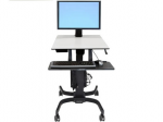 WorkFit-C Computer Stand - Up to 30 inch Screen Support - 28 lb Load Capacity - 23.9 inch Width x 22.8 inch Depth - Powder Coated - Steel Plastic - Gray Black