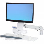 StyleView Sit-Stand Combo Arm - Wall mount for LCD display / keyboard / mouse / bar code scanner - aluminum high-grade plastic - white - screen size: up to 24 inch