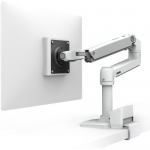 LX Desk Monitor Arm - Mounting kit (articulating arm desk clamp mount C-clamp) for LCD display - white - screen size: up to 32 inch
