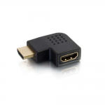 Right Angle HDMI Adapter - Left Exit - 1 x HDMI Female Digital Audio/Video - 1 x HDMI Female Digital Audio/Video - Gold-plated Connectors - Black