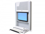 StyleView Sit-Stand Enclosure - Cabinet unit for LCD display / keyboard / mouse / CPU - bright white - screen size: 22 inch - wall-mountable