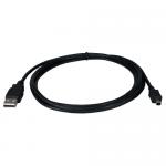 6ft Black Connectors: Type A Male to Mini B 4Pin Male) - USB for Camera - 6 ft - 1 x Type A Male USB - 1 x Type B Male Mini USB - Shielding - Black