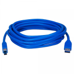 USB 3.0 Compliant 5Gbps Type A Male to B Male Cable - USB for Printer Scanner Storage Drive - 10 ft - 1 x Type A Male USB - 1 x Type B Male USB - Shielding - Blue