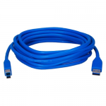 USB 3.0 Compliant 5Gbps Type A Male to B Male Cable - USB for Printer Scanner Storage Drive - 15 ft - 1 x Type A Male USB - 1 x Type B Male USB - Nickel Plated - Shielding - Blue