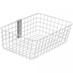 Large - Mounting component (wire basket) - white - cart mountable