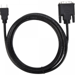 HDMI/DVI Video Cable - HDMI/DVI for Video Device - 6 ft - HDMI Male Digital Audio/Video - DVI Male Video - Black