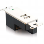 2-Port USB 1.1 Over Cat5 Superbooster Extender Wall Plate Receiver - USB extender - USB - 2 ports - up to 150 ft
