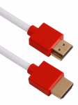 6FT HIGH SPEED HDMI ULTRAHD 4K with ETHERNET THIN FLEXIBLE CABLE RED