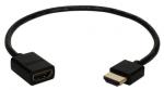 0.5FT HIGH SPEED HDMI ULTRAHD 4K W/ETHERN THIN FLEXIBLE EXTN CABL