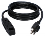 5PK 3OUT 3 PRONG 10FT POWER EXTENSION CORD