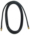 5ft Wireless LAN Antenna Extension Cable - RP-SMA for Antenna - Extension Cable - 5 ft - 1 x RP-SMA Male Antenna - 1 x RP-SMA Female Antenna - Gold Plated - Black