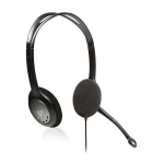 3.5MM BLACK STEREO HEADPHONES AND MIC