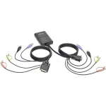 2-PORT USB DVI CABLE KVM SWITCH WITH AUDIO CABLES & USB PERIPHERAL S
