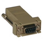 Modular Serial Crossover Adapter Ethernet to Console Server RJ45-F/DB9-F - Serial adapter - DB-9 (F) to RJ-45 (F) - thumbscrews - beige