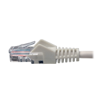 CAT5E 350 MHZ SNAGLESS MOLDED UTP PATCH CABLE (RJ45 M/M)  WHITE 5 FT.