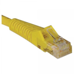 6ft Cat5e / Cat5 Snagless Molded Patch Cable RJ45 M/M Yellow 6 - Patch cable - RJ-45 (M) to RJ-45 (M) - 6 ft - UTP - CAT 5e - IEEE 802.3ba - molded snagless stranded - yellow