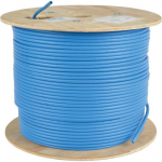 1000ft Cat6 / Cat6a 10G Cable Solid Core CMR PVC Blue 1000 - cable - 1000 ft - UTP - CAT 6a - IEEE 802.3 - solid - blue - TAA Compliant