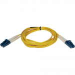 2M Duplex Singlemode 8.3/125 Fiber Optic Patch Cable LC/LC 6 6ft 2 Meter - Patch cable - LC single-mode (M) to LC single-mode (M) - 2 m - fiber optic - 8.3 / 125 micron - riser - yellow