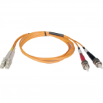 1M Duplex Multimode 50/125 Fiber Optic Patch Cable LC/ST 3 3ft 1 Meter - Patch cable - ST multi-mode (M) to LC multi-mode (M) - 1 m - fiber optic - 50 / 125 micron - orange