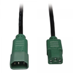 4ft Computer Power Cord Extension Cable C14 to C13 Green 10A 18AWG 4 - Power extension cable - IEC 60320 C14 to IEC 60320 C13 - AC 100-250 V - 10 A - 4 ft - black green