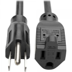 Standard Power Extension Cord 10A 18 AWG (NEMA 5-15P to NEMA 5-15R)  Black 12 ft. - Power extension cable - NEMA 5-15 (P) to NEMA 5-15 - AC 120 V - 10 A - 12 ft - molded - black