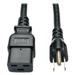 8ft Power Cord Adapter Cable 5-15P to C19 Heavy Duty 15A 14AWG 8 - Power cable - NEMA 5-15P (M) to IEC 60320 C19 - AC 110 V - 8 ft - molded - black