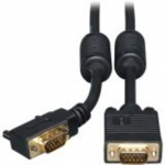 6ft VGA Coax Monitor Cable with RGB High Resolution Right Angle HD15 M/M 6 - VGA cable - HD-15 (VGA) (M) to HD-15 (VGA) (M) - 6 ft - 90 connector molded thumbscrews - black