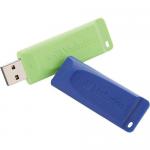 Store n Go USB Flash Drive - USB flash drive - 16 GB - USB 2.0 - blue green (pack of 2)