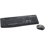Silent - Keyboard and mouse set - wireless - 2.4 GHz - black