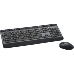 Wireless Multimedia Keyboard and 6-Button Mouse Combo - Keyboard and mouse set - wireless - 2.4 GHz - black
