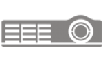 Projector cable management panel cover - white - for LightStream PJD5155L PJD5255L PJD5350LS PJD6250L PJD7830HDL
