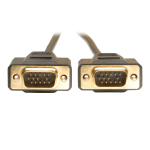 6ft VGA Monitor Gold Cable Molded Shielded HD15 M/M 6 - VGA cable - HD-15 (VGA) (M) to HD-15 (VGA) (M) - 6 ft - molded - for P/N: B112-002-R P120-000 P160-000 P510-006 P510-010