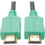 3ft Hi-Speed HDMI Cable Digital A/V UHD HDMI 4Kx2K M/M Green 3 - HDMI cable - HDMI (M) to HDMI (M) - 3 ft - shielded - green - molded