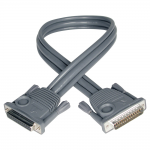 15ft KVM Switch Daisychain Cable for B020 / B022 Series KVMs 15 - Stacking cable - DB-25 (M) to DB-25 (F) - 15 ft - double shielded - molded stranded