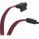 Lite 1ft Serial ATA (SATA) Right Angle Signal Cable (7Pin/7Pin-Up) 12-in. - SATA for Hard Drive SATA Controller - 1 ft - 1 x SATA Male - 1 x SATA Male - Shielding - Red