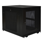 12U Rack Enclosure Server Cabinet 33 inches Deep with Doors & Sides - 19 inch 12U Wide - 1000 lb x Maximum Weight Capacity