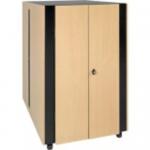 24U Soundproof Rack Enclosure Server Cabinet Quiet Acoustic - Rack - cabinet - black beige - 24U - 19 inch