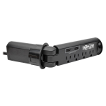4-Outlet Surge Protector Power Strip Desk Grommet with 2-Port USB Charging - Surge protector - 15 A - AC 120 V - output connectors: 4 - 10 ft - black