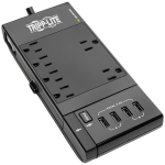6-OUTLET SURGE PROTECTOR 4 USB PORTS 6 FT. CORD 1080 JOULES DIAGNOSTIC LED