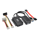 USB 3.0 SuperSpeed to SATA/IDE Adapter 2.5/3.5/5.25 inch Hard Drives - Storage controller - 2.5 inch  3.5 inch - SATA 6Gb/s - 6 Gbit/s - USB 3.0 - black