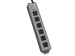 Waber Industrial Power Strip 6 outlet 15 feet Cord 5-20P - Power distribution strip - 20 A - AC 120 V - input: NEMA 5-20 - output connectors: 6 ( NEMA 5-20 ) - black blue gray