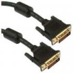 DVI-D Dual Link 24+1 Male - Male - DVI for Video Device - 15 ft - 1 x DVI-D (Dual-Link) Male Digital Video - 1 x DVI-D (Dual-Link) Male Digital Video - Black