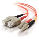 9m LC-SC 50/125 OM2 Duplex Multimode PVC Fiber Optic Cable (USA-Made) - Orange - Patch cable - LC multi-mode (M) to SC multi-mode (M) - 30 ft - fiber optic - 50 / 125 micron - OM2 - orange