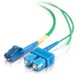 5m LC-SC 9/125 Duplex Single Mode OS2 Fiber Cable - Green - 16ft - Patch cable - LC single-mode (M) to SC single-mode (M) - 5 m - fiber optic - 9 / 125 micron - OS1 - green