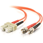 SC-ST 62.5/125 OM1 Duplex Multimode PVC Fiber Optic Cable (USA-Made) - Patch cable - ST multi-mode (M) to SC multi-mode (M) - 10 m - fiber optic - 62.5 / 125 micron - OM1 - molded - orange