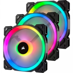 LL SERIES LL120 RGB 120MM DUAL LITING NODE PRO LED FAN 3PK W CONTR