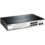 Web Smart - Switch - managed - 8 x 10/100/1000 (PoE+) + 2 x Gigabit SFP - desktop - PoE+ (78 W)