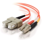 LC-SC 62.5/125 OM1 Duplex Multimode Fiber Optic Cable (Plenum-Rated) - Patch cable - LC multi-mode (M) to SC multi-mode (M) - 49 ft - fiber optic - 62.5 / 125 micron - OM1 - plenum - orange